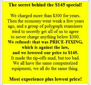 Polygraph Orange County prices
